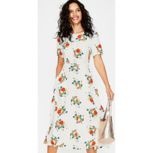 Boden Ruth Midi Dress Ivory Blooming Bouquet NWT 4